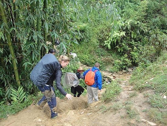 Down muddy trails