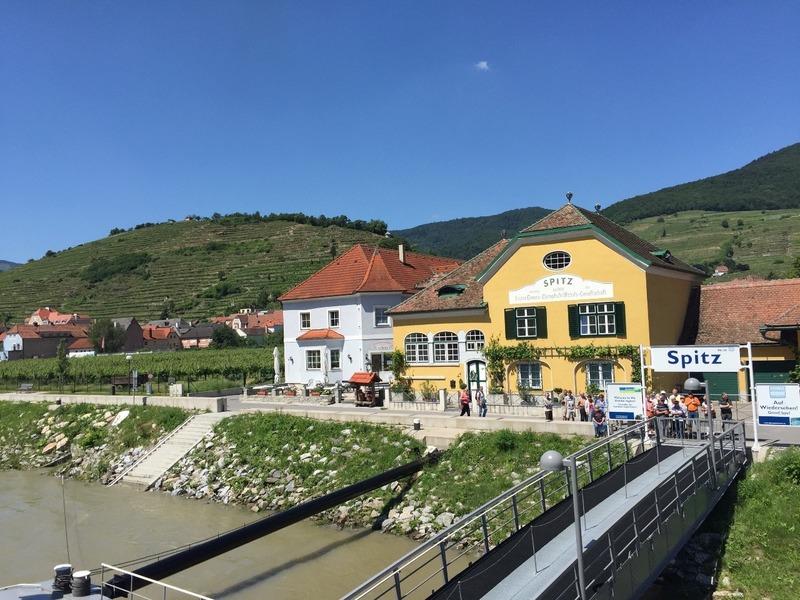 Village of Spitz half way  to Krems