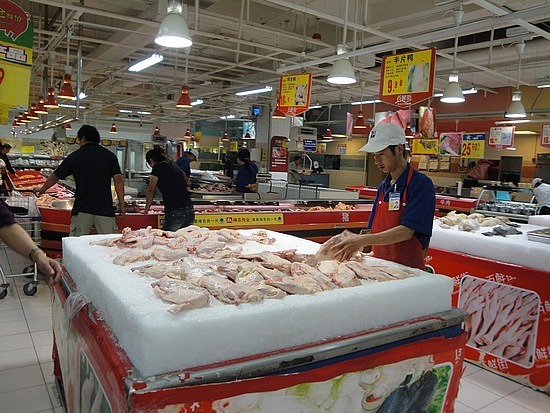 Chicken in supermarket - not packaged
