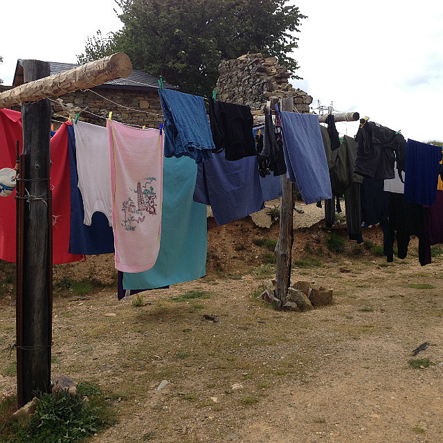 Washing drying in the wind