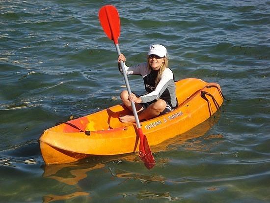 Kayaking is hard work