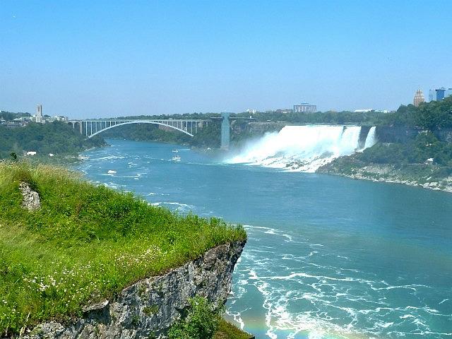Rainbow Bridge & American Falls from Canada