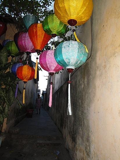 Lanterns in alley