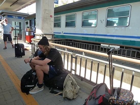 Nath waiting at station