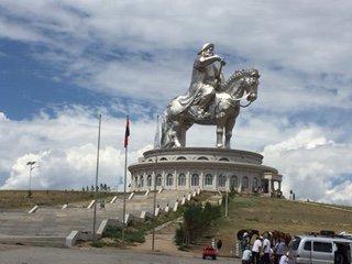 Impressive Chinggis Khan statue
