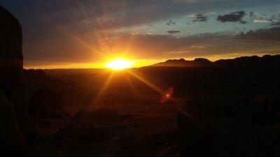 Sunset at Khugnu Khan