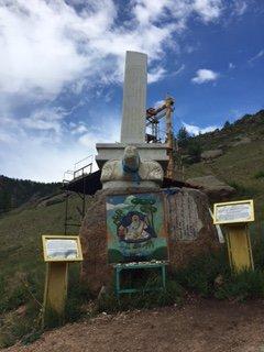Budha stop on meditation pilgrimage