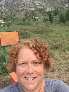 Kellie selfie on pilgrimage