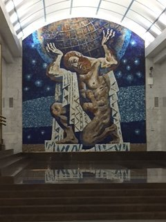 Mosaic in subway
