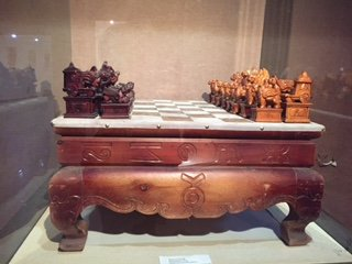 Old chess set from museum