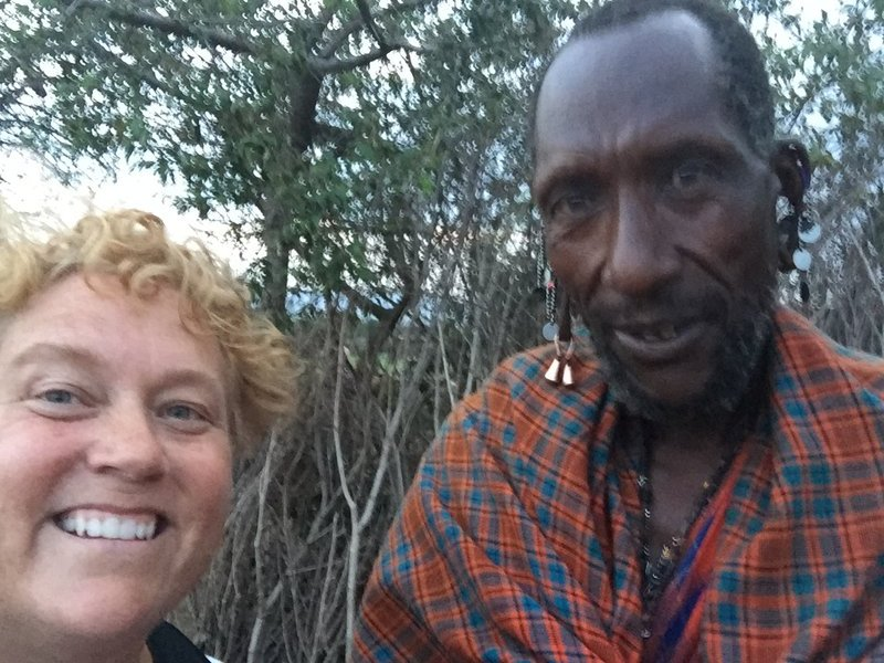 Selfie with Maasai man