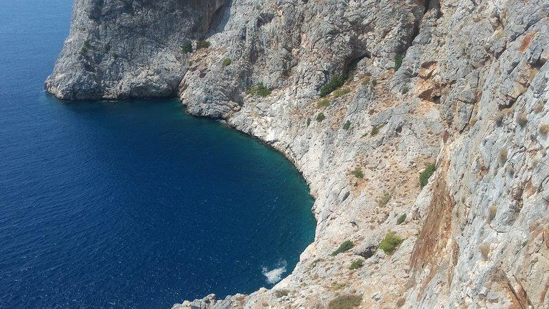 Ocean below cave