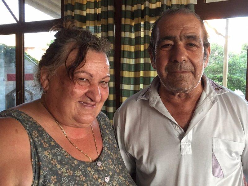 Eleni and Costas from Omiros hotel Vatera beach Lesvos