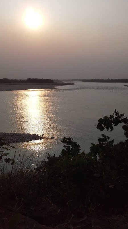 Karnali river sunset