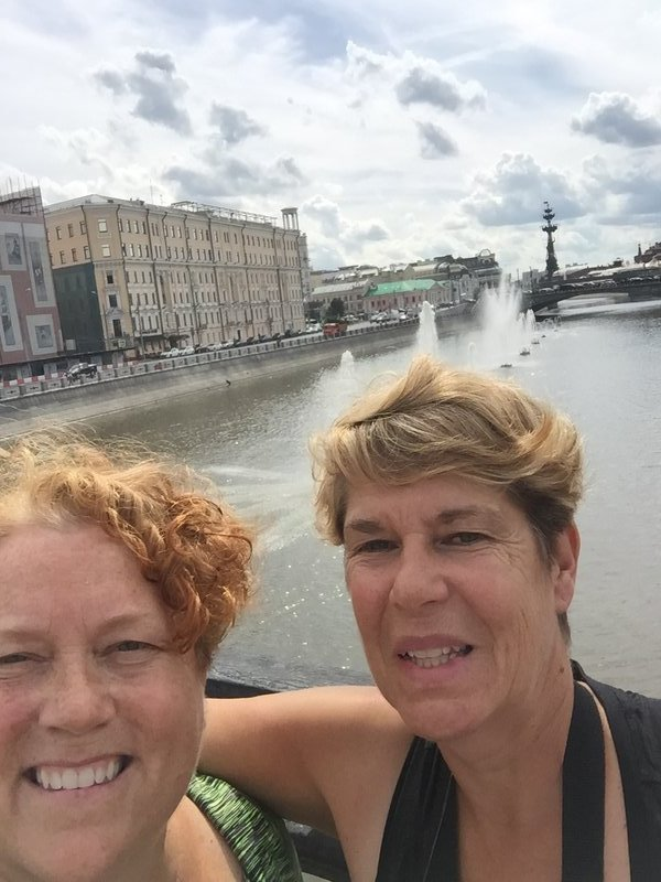 Selfie on Moscow river