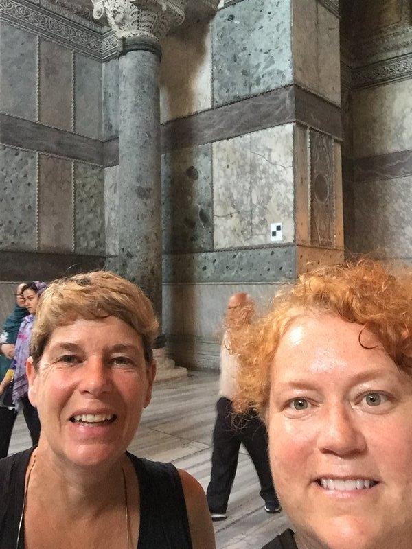 KelShell selfie in Hagia Sophia