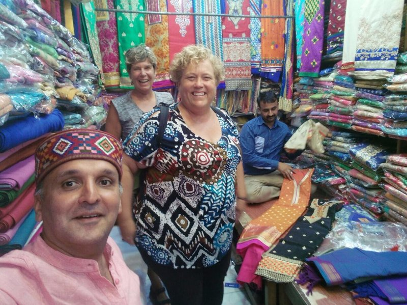 Picking fabrics with Sarju