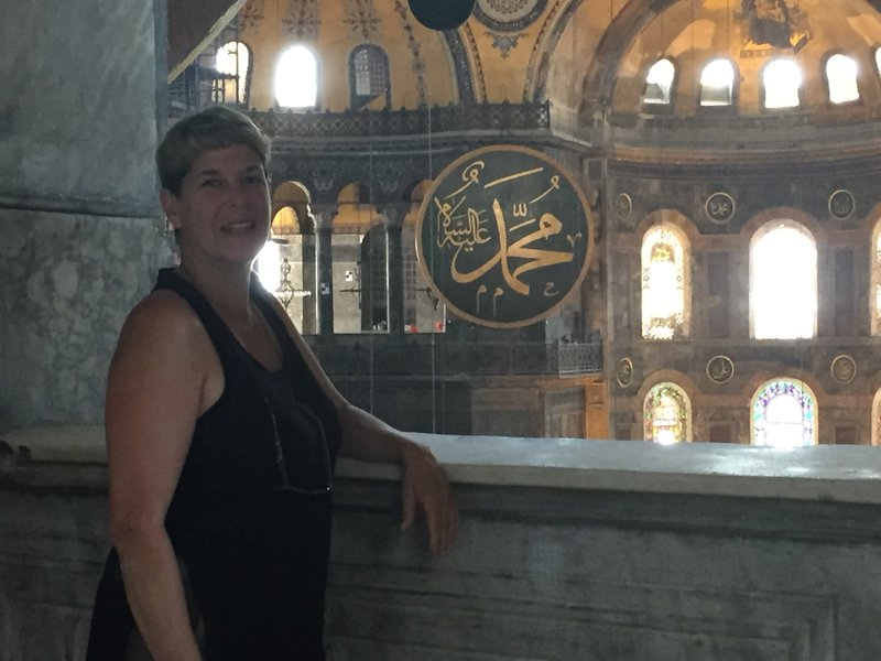 Shelley at Hagia Sophia