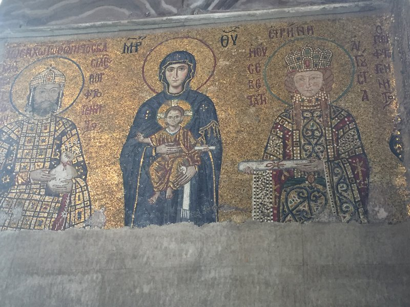 Example of Christian mural in Hagia Sophia