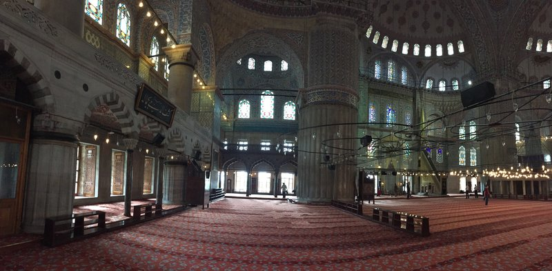 Panoramic shot of Blue Mosque