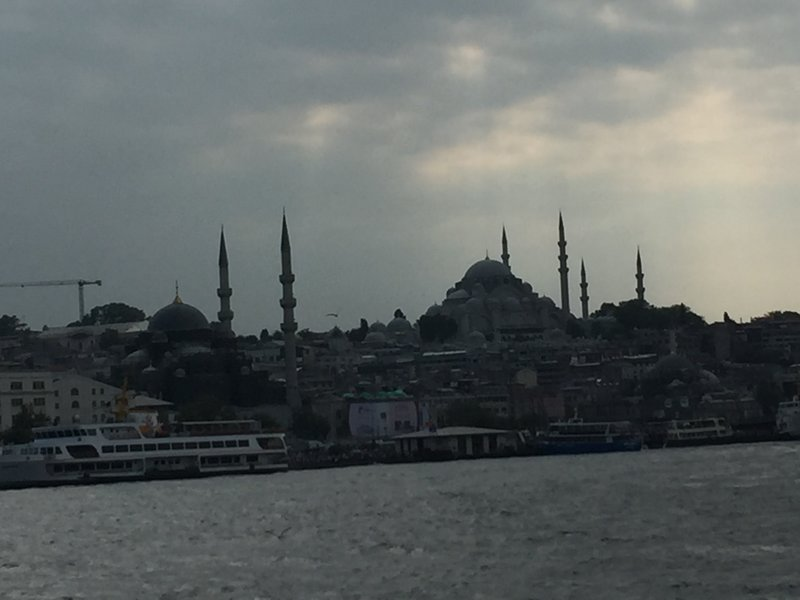 Crossing the Bosphorous to get to the Asian side of Instanbul