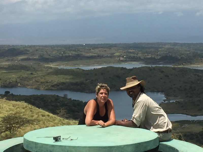 Shelley and Charles viewpoint Arusha national park