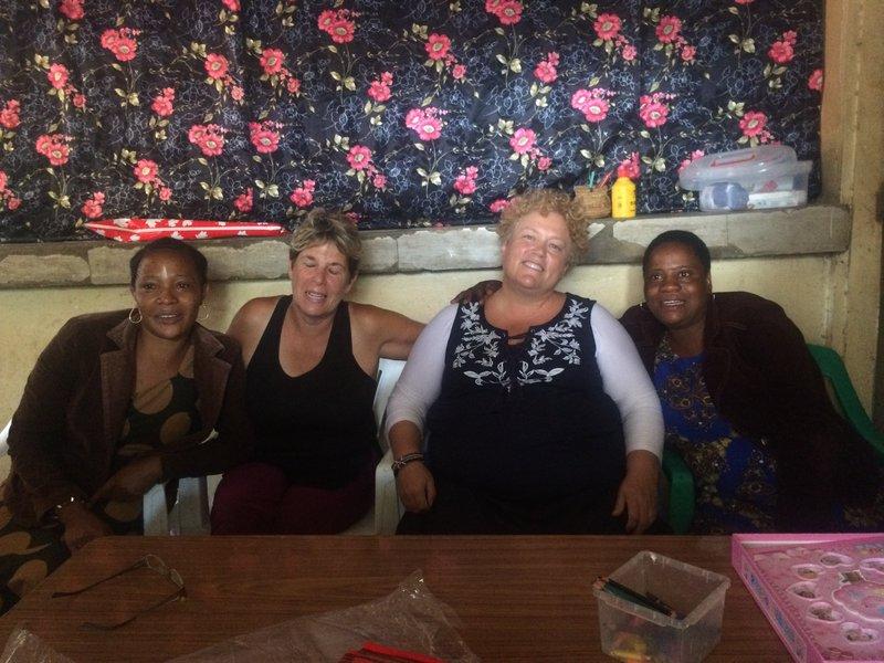 Lillian, Shelley, Kellie and head teacher