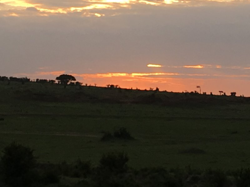 Sun set in Maasai Mara