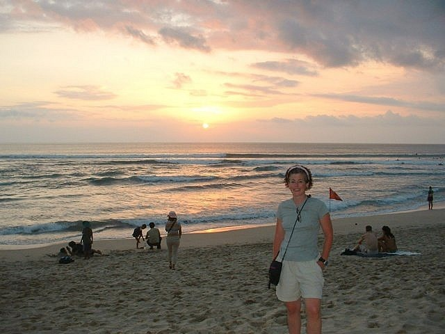 Sunset over Kuta Beach