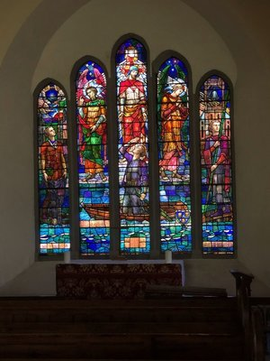Stained glass in St. Multose's Church