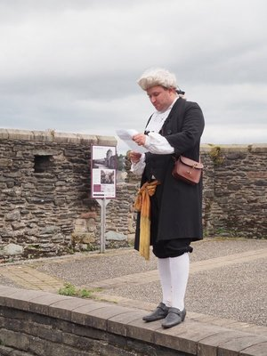 Re-enactment on the city wall