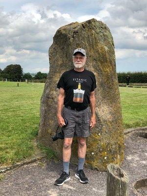Jim at New Grange