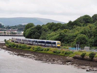 A train along the River Foyle