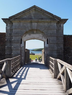 Main entry to Charles Fort