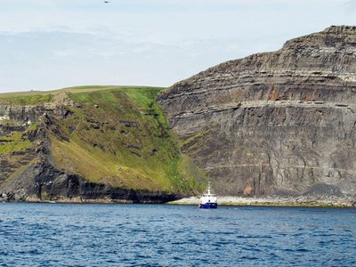 Another tour boat at the Cliffs of Moher