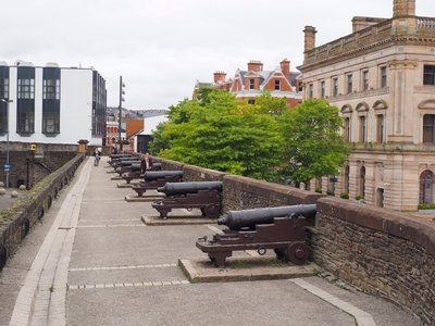 Canons on the wall