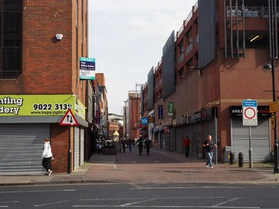 Pedestrian mall in Belfast