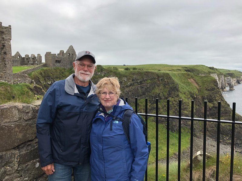 Here we are at Dunluce Castle