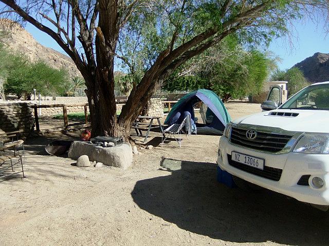 Our camp at Ai Ais