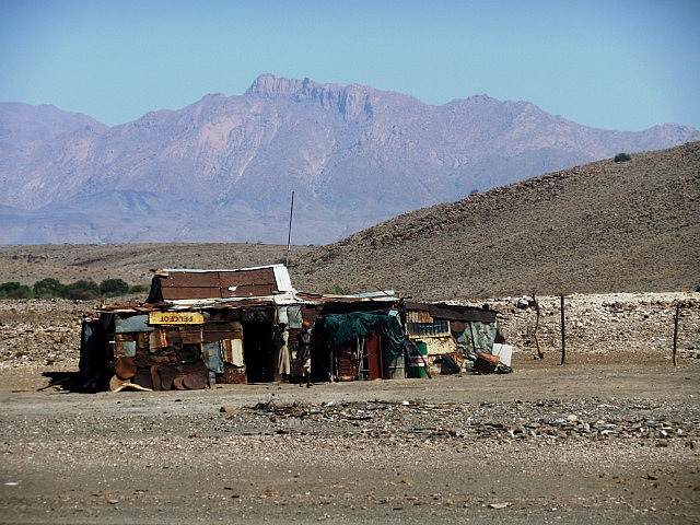 Shacks in the desert