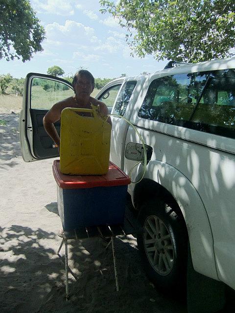 Refueling at Savuti