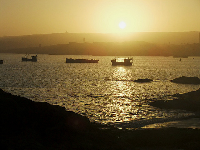 Early morning view over Luderitz Harbour