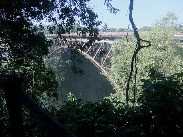 Bridge over the Zambezi to Zambia