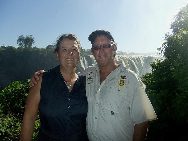 Us at Vic Falls
