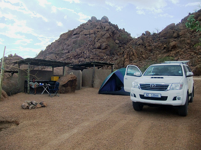 Our camp at Twyfelfontein