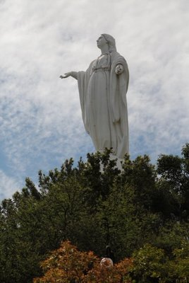Virgin Mary statue atop San Cristobal Mount