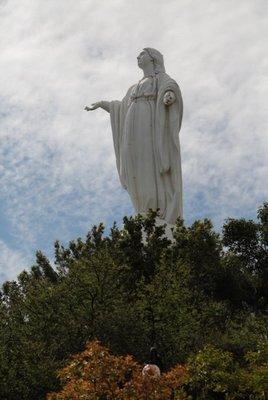 Virgin Mary statue atop San Cristobal Mount