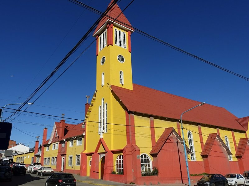 Salesian Church in Ushuaia - early missionaries worked with native people in the area in 19th century