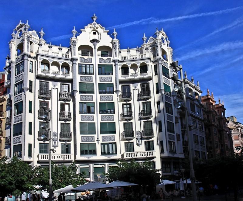 Striking building near our pension - San Sebastian