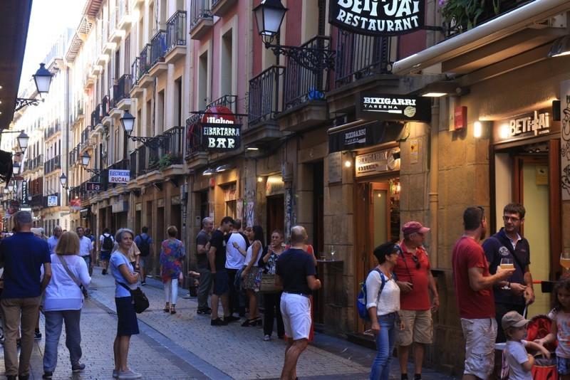 Old City - San Sebastian - wall-to-wall 'Pinxos' bars